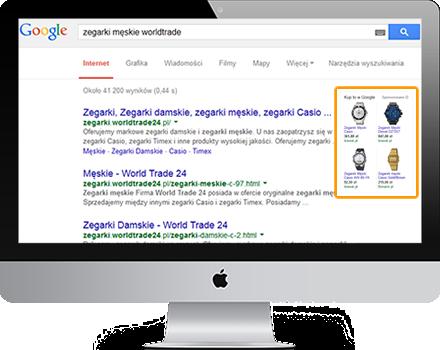 Promowanie w Google produktów z reklamami z listą produktów